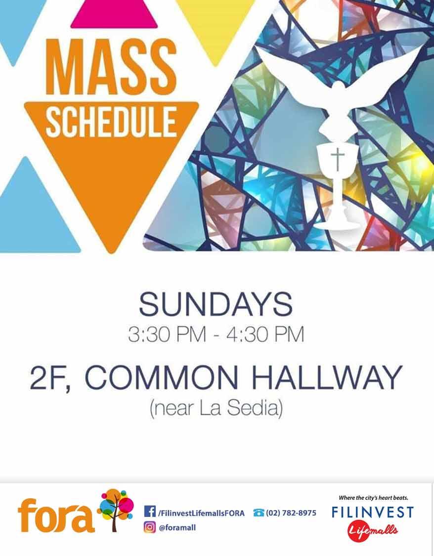 Mass Schedule (Fora)