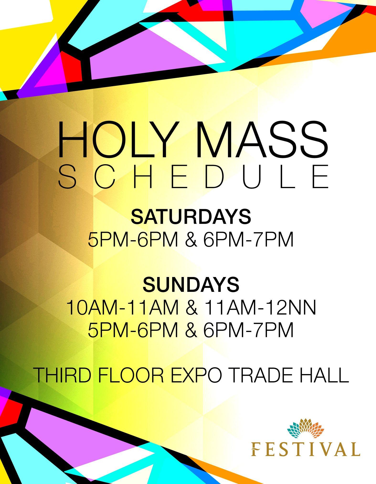 Mass Schedule (Festival Mall)