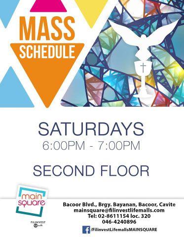 Mass Schedule (Main Square )