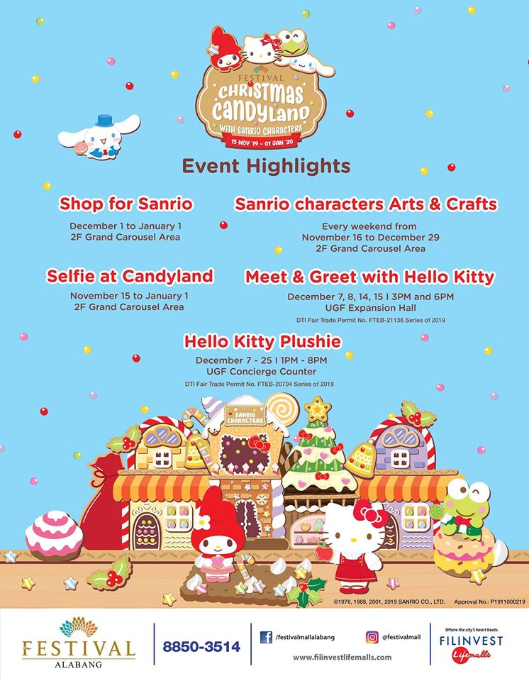 Christmas Candyland with Sanrio Characters at Festival Mall