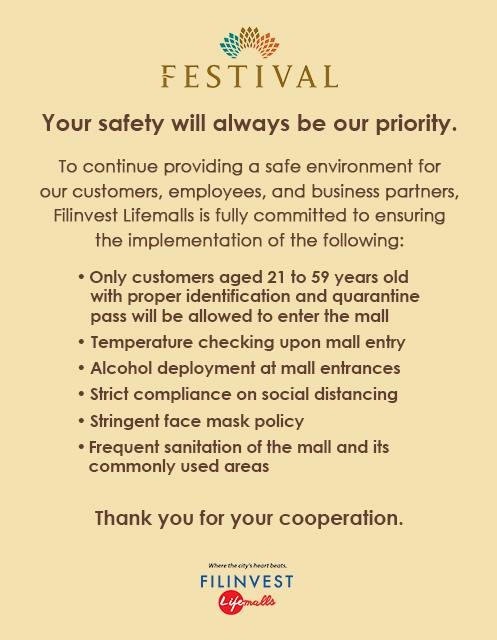 FESTIVAL MALL HEALTH & SAFETY MEASURES