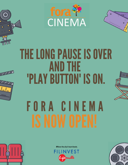 FORA CINEMA IS NOW OPEN!