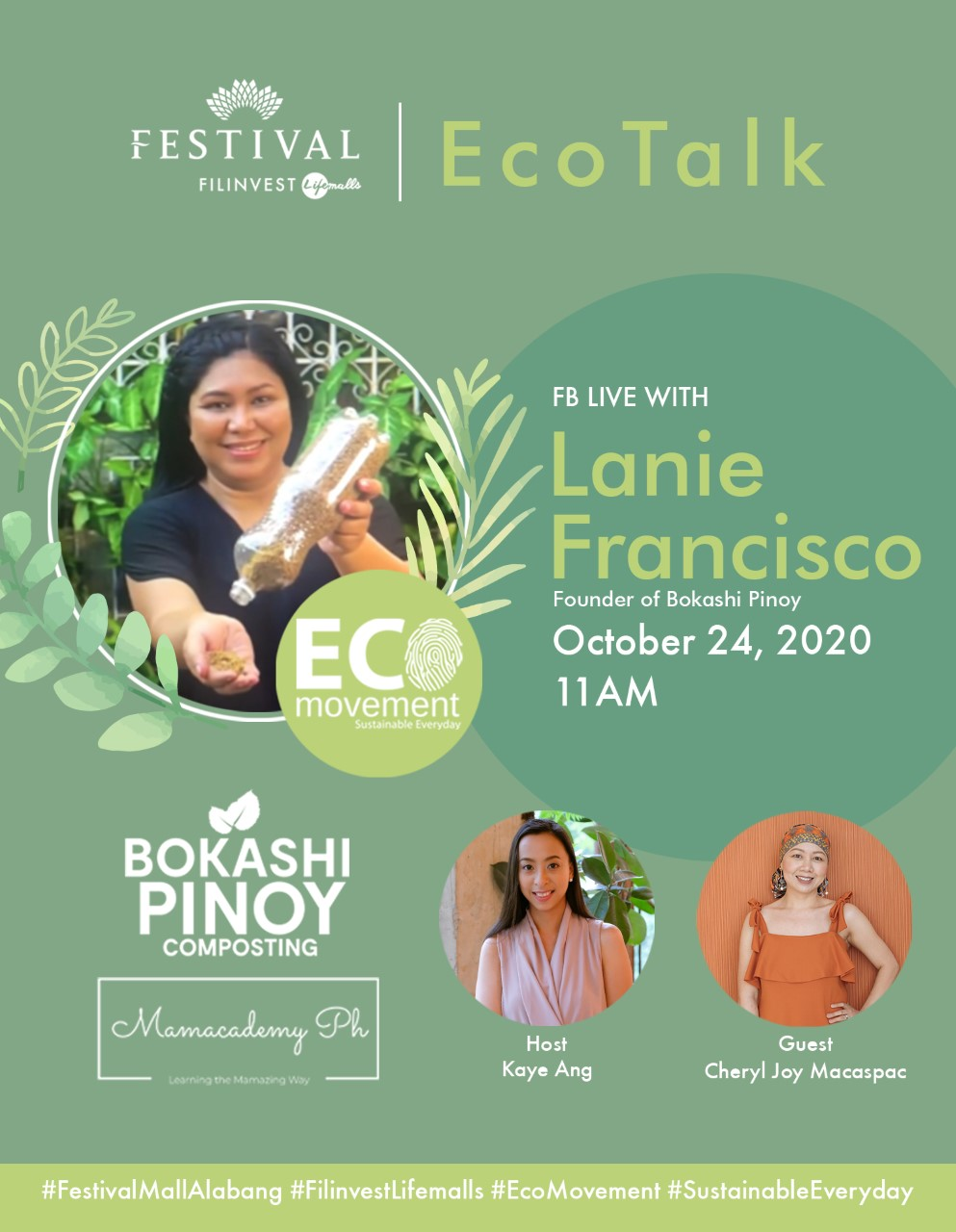 ECOTALK on October 24, 2020; 11AM