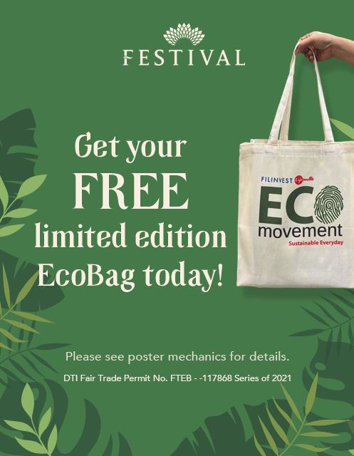 Get your FREE limited edition EcoBag today! (Festival Mall)